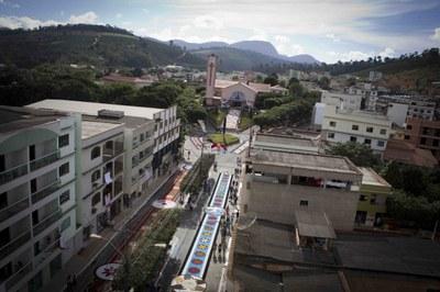 Vista aérea do centro Marilândia-ES