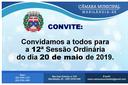 Convite para a 12ª Sessão Ordinária