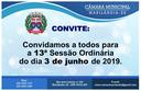Convite para a 13ª sessão ordinária