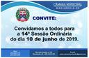 Convite para a 14ª Sessão Ordinária