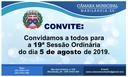 Convite para a 19ª sessão ordinária