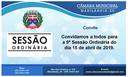 Convite para a 9ª Sessão Ordinária